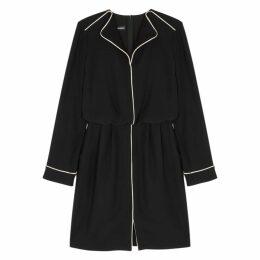 Emporio Armani Black Pipe-trimmed Dress