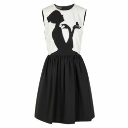 Boutique Moschino Monochrome Printed Mini Dress