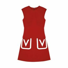 Valentino Red Wool Shift Dress