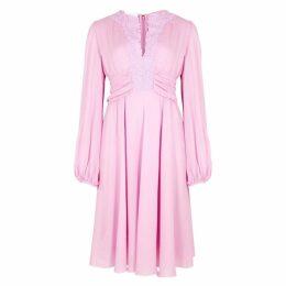 Giambattista Valli Lilac Lace-panelled Dress