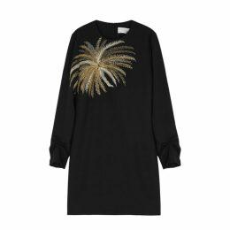 Victoria, Victoria Beckham Black Embroidered Shift Dress