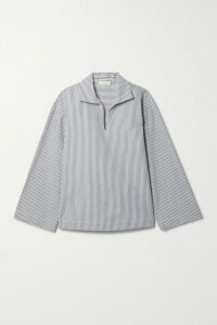 Paul & Joe - Solaire Pleated Striped Satin-twill Midi Skirt - Blue