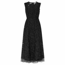 RED Valentino Black Embroidered Tulle Dress