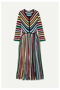 Mary Katrantzou - Maya Striped Crochet-knit Maxi Dress - Yellow