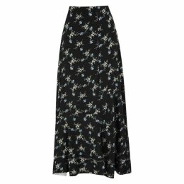 BY MALENE BIRGER Aloha Printed Crepe De Chine Skirt
