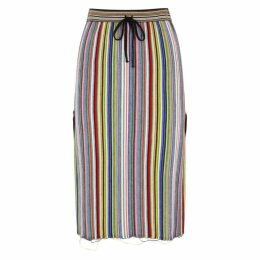 Marques' Almeida Striped Merino Wool Skirt