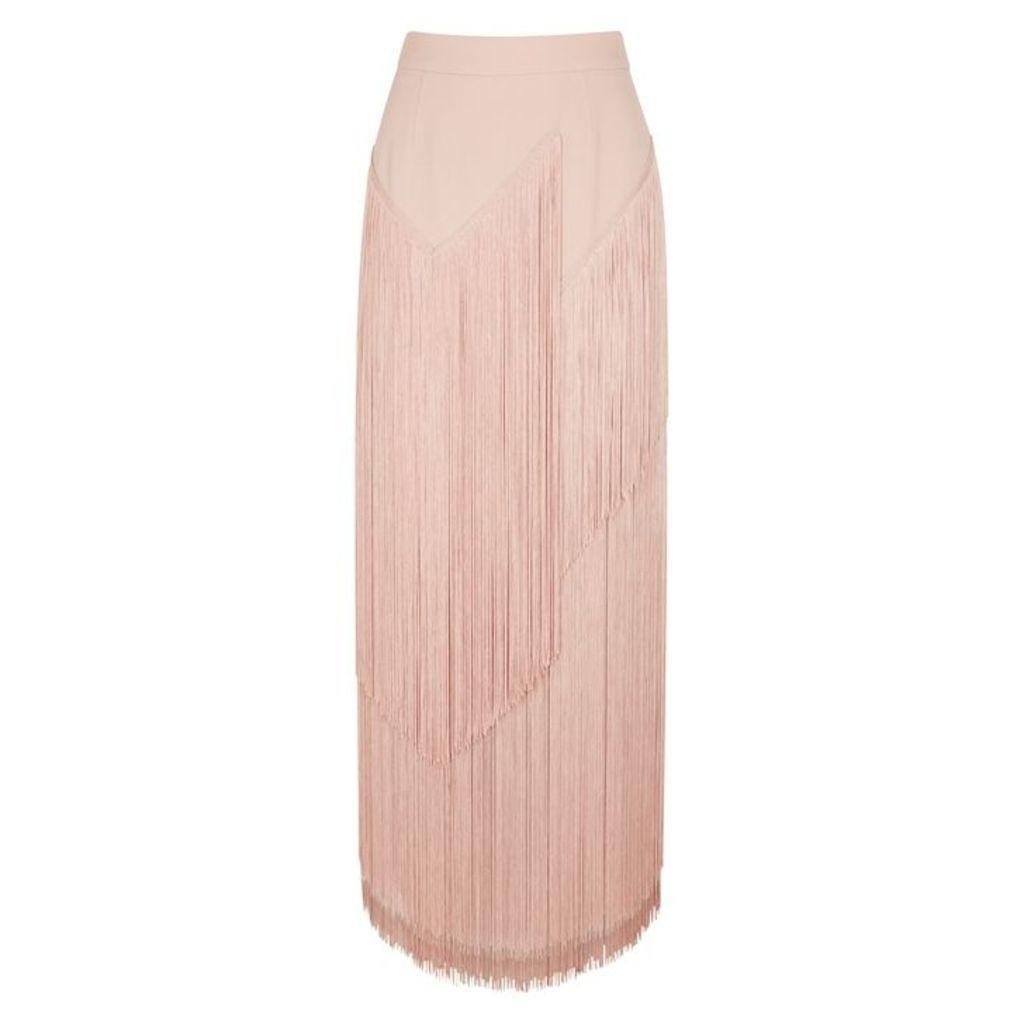 Stella McCartney Pink Fringed Midi Skirt