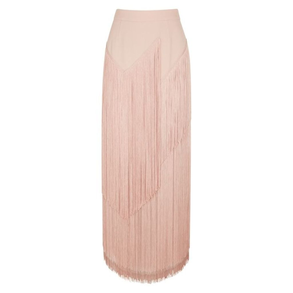 Stella McCartney Pink Fringed Midi Skirt