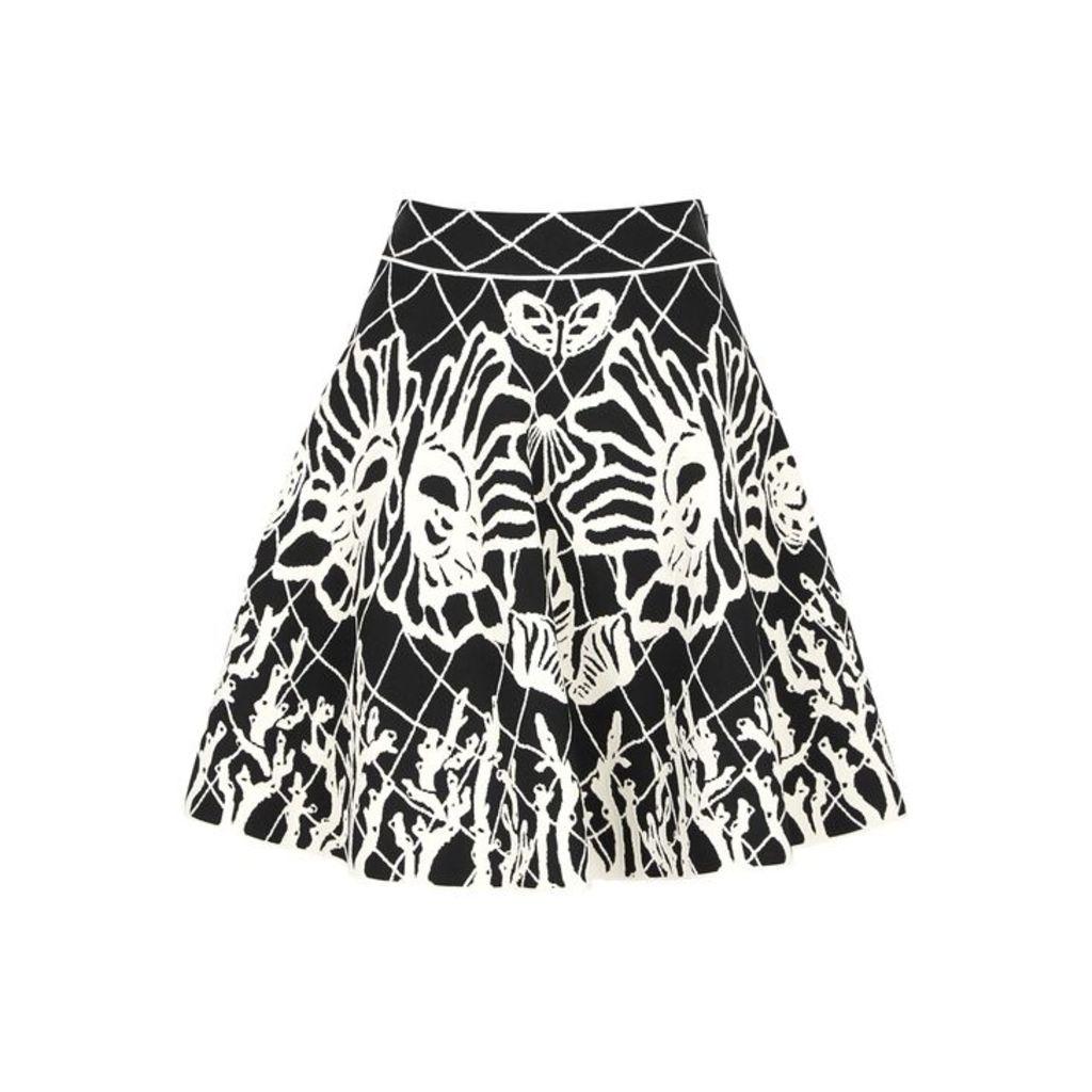 Alexander McQueen Spine Shell Jacquard-knit Skirt
