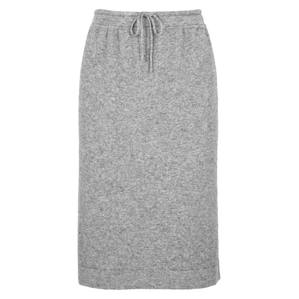 Vince Grey Mélange Wool-blend Skirt
