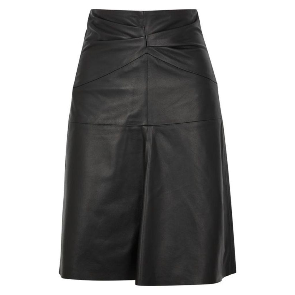 Isabel Marant Gladys Black Leather Skirt