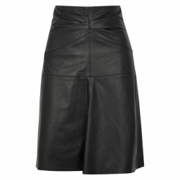 Isabel Marant Gladys Black Leather Skirt