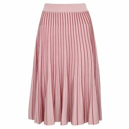 Jonathan Simkhai Pink Pleated Stretch-knit Skirt