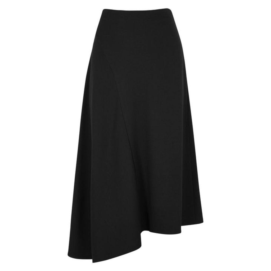 Vince Black Asymmetric Midi Skirt