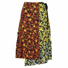 Proenza Schouler Floral-print Asymmetric Skirt
