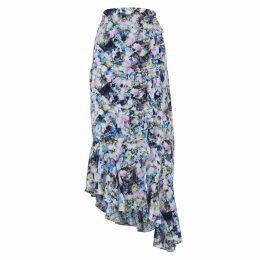 Preen Line Daria Printed Georgette Wrap Skirt
