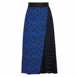Alice + Olivia Lilia Printed Wrap-effect Midi Skirt
