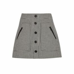Veronica Beard Monroe Houndstooth Cotton-blend Mini Skirt