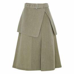 Sies Marjan Wallis Green Cotton Skirt