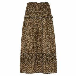Sea NY Lottie Leopard-print Georgette Skirt