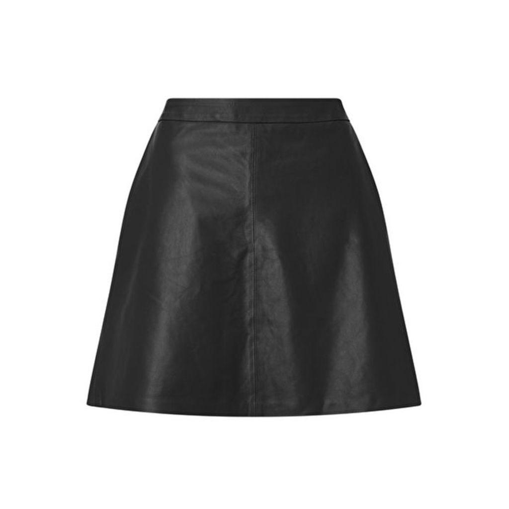 Baukjen Leather Skirt With Zip Closure