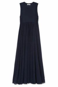 Jil Sander - Pleated Georgette Maxi Dress - Navy