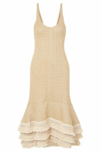 3.1 Phillip Lim - Tasseled Crochet-knit Cotton-blend Maxi Dress - Neutral