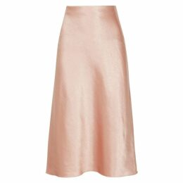 Vince Rose Hammered Satin Skirt