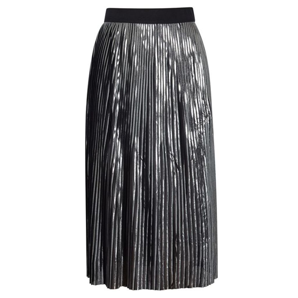 BY MALENE BIRGER Iauno Gunmetal Pleated Skirt