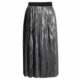 BY MALENE BIRGER Iauno Gunmetal Pleated Skirt