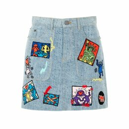 Alice + Olivia Keith Haring X AO Coletta Denim Skirt
