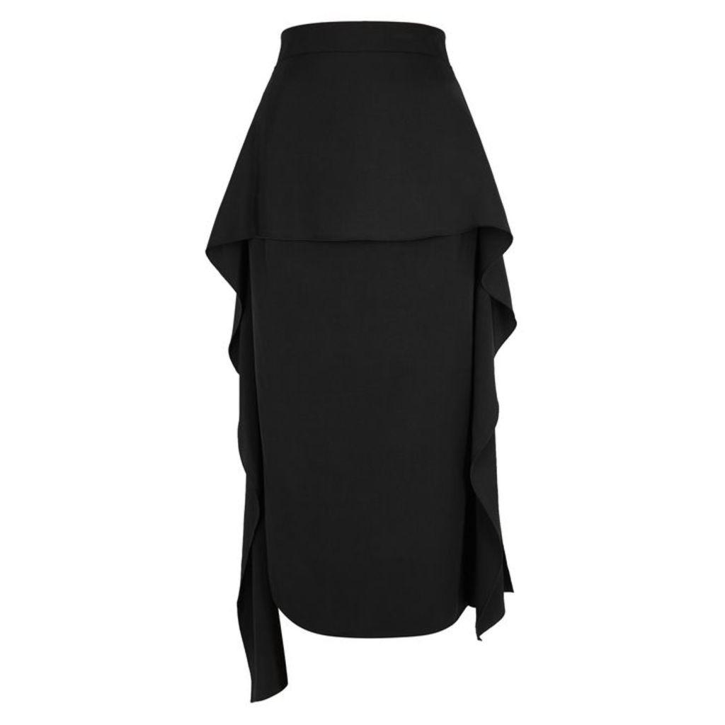 JW Anderson Black Draped Asymmetric Skirt
