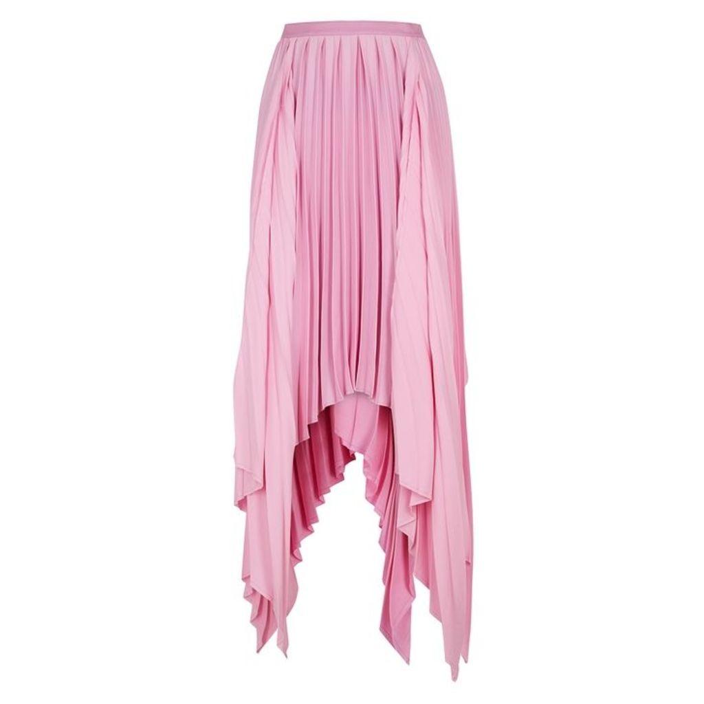 Khaite Charlotte Pink Handkerchief Skirt