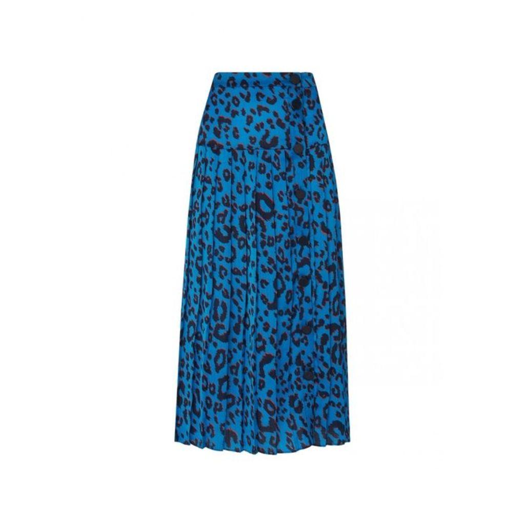 Kitri Tina Animal Print Midi Skirt