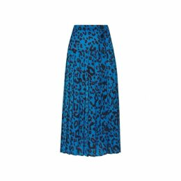 Kitri Tina Animal Print Midi Skirt