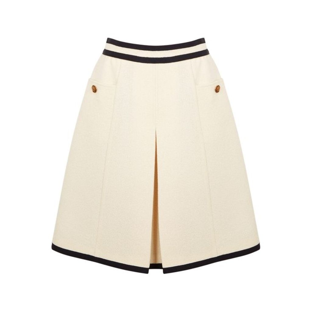 Gucci Cream Wool-blend Skirt