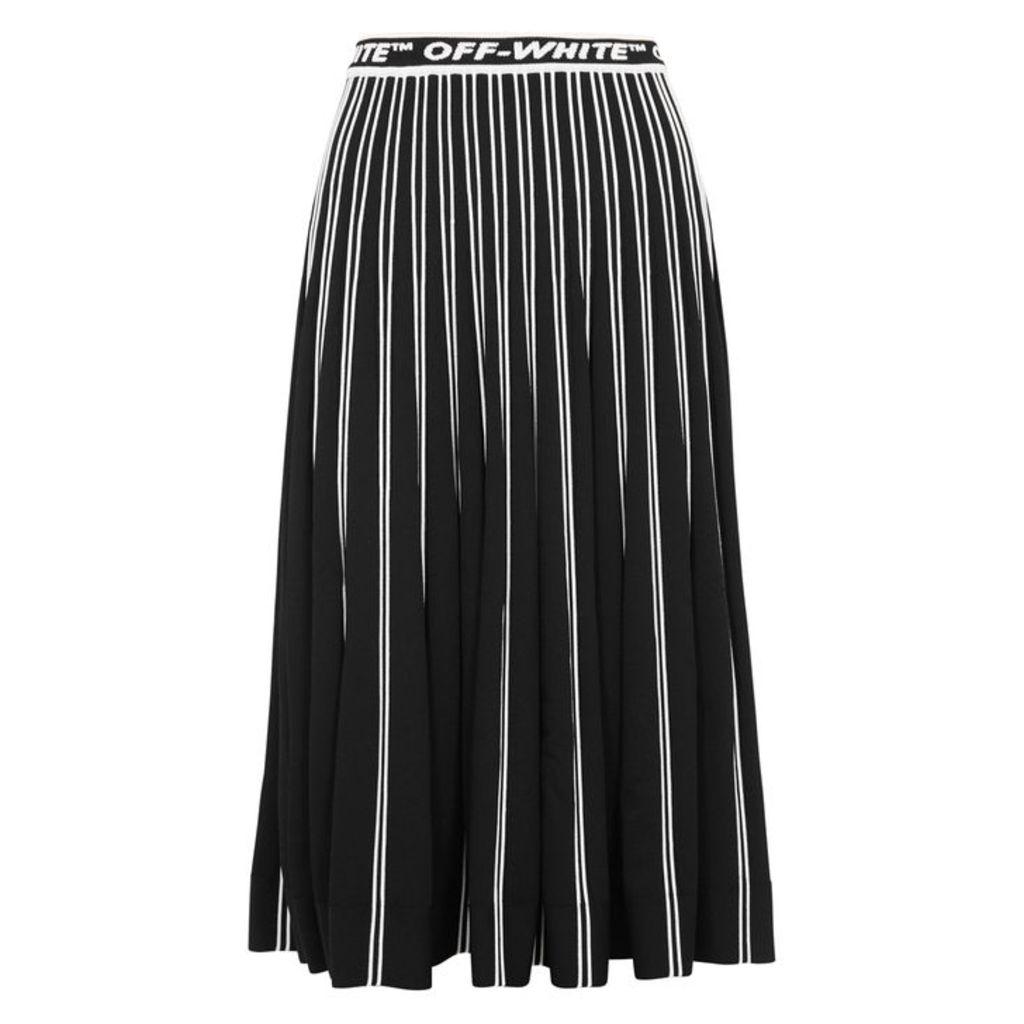 Off-White Black Striped Stretch-knit Skirt