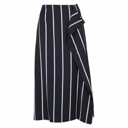 Equipment Climmie Striped Twill Midi Skirt