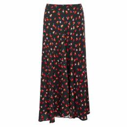 Velvet By Graham & Spencer Titania Floral-print Voile Midi Skirt
