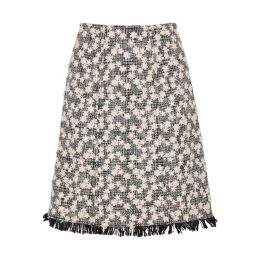 Giambattista Valli Floral-appliquéd Tweed Skirt