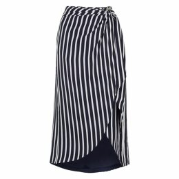Jonathan Simkhai Striped Cupro-blend Midi Skirt
