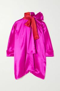 Lingua Franca - Give Peace A Chance Embroidered Cashmere Sweater - Teal