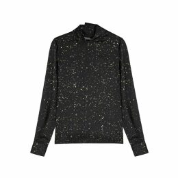 Vince Constellation-print Satin Top