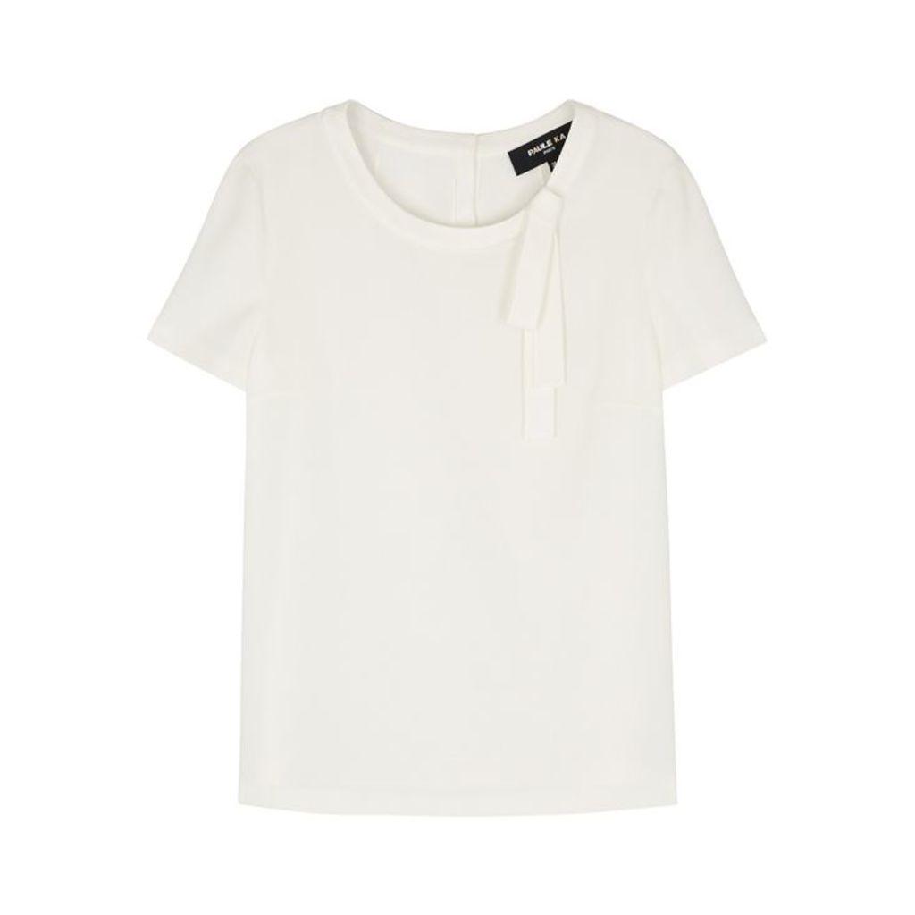 Paule Ka Off-white Bow-embellished Top