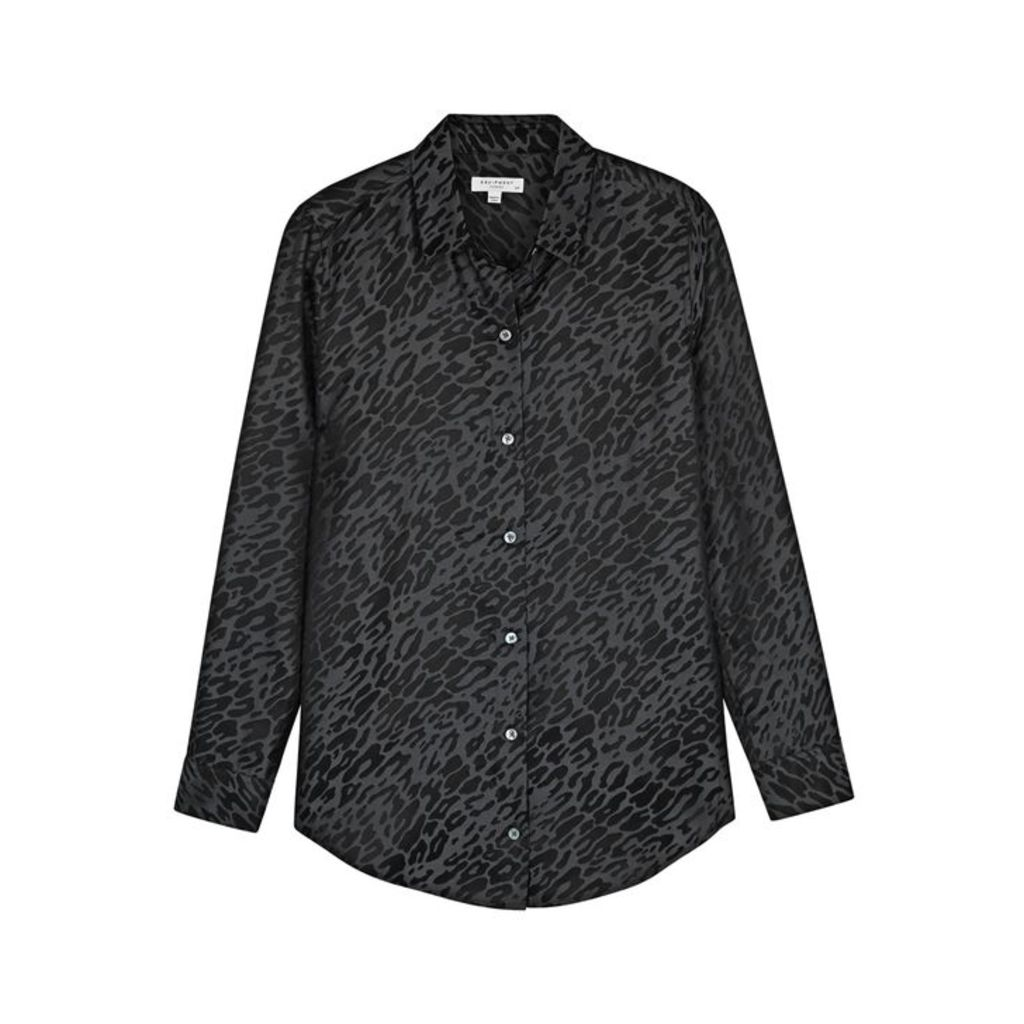 Equipment Essential Leopard Silk-blend Shirt