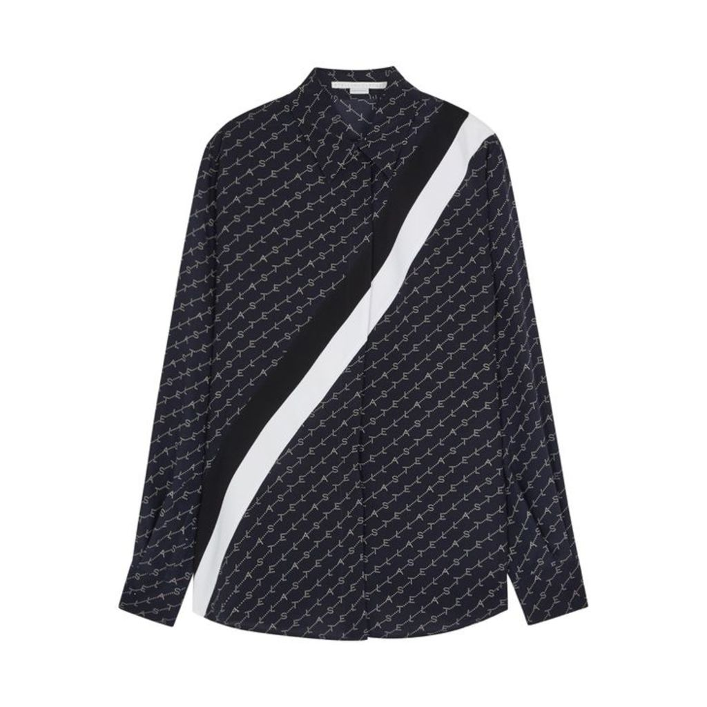 Stella McCartney Monogrammed Silk Shirt