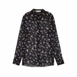 Altuzarra Chika Floral-print Silk Chiffon Shirt