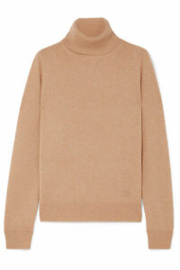 Givenchy - Embroidered Cashmere Turtleneck Sweater - Beige
