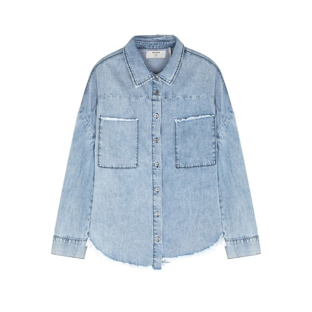Oneteaspoon Imperial Frayed Chambray Shirt
