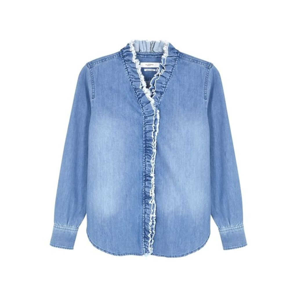 Isabel Marant Étoile Nawendy Ruffle-trimmed Denim Shirt